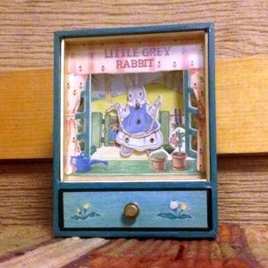 "Late 80's ""Little Grey Rabbit"" Animated Music Box"